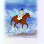 海辺の馬 暑中見舞い
